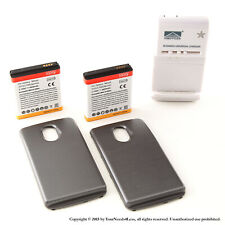 2 x 3800mAh Extended Battery for Black Samsung Galaxy Nexus L700 Sprint Charger