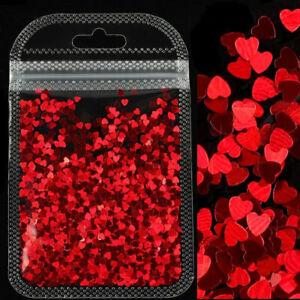 Holographic Sweet Love Heart Nail Glitter 3D DIY Nail Art Decorations