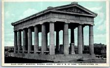 "Elizabethtown, Pa Postcard ""Blair County Memorial, Masonic Homes F&Am"" c1920s"