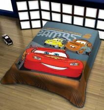 "Disney Cars Blanket twin 59""x78"" raschel plush Heavy Throw  Licensed Pixar new"