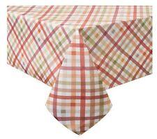 "Autumn Gingham Tablecloth 60"" X 144"" Oblong Fall Halloween Thanksgiving"