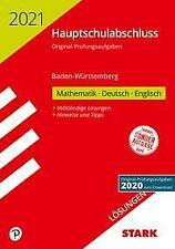 STARK Lösungen zu Original-Prüfungen Hauptschulabschluss 2021 - Mathematik, Deut
