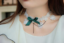Women Retro Lolita Costume Emo Gothic Party LACE Necklace Neck Choker Collar