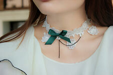 Women Retro Lolita Costume Emo Gothic Party LACE Necklace Neck Choker Collar