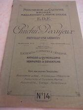 catalogue de fonderie - FRIVILLE - ESCARBONTIN  - SOMME 80