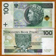 POLAND 50 /& 100 ZOLTY  2 PIECE Paper Money Year 2012 UNCIRCULATED 150 Zolty UNC.