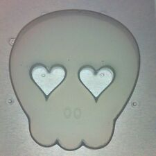 Flexible Resin Mold Skull W/ Heart Eyes Mould Resin Craft Supplies