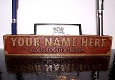 CUSTOM PERSONALIZED DESK NAMEPLATE OFFICE NAMEPLATE CARD HOLDER PEN HOLDER -GIFT
