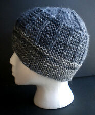 Hand Knitted, hand made men's fitted beanie/ hat; warm for winter