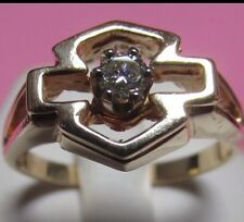 Reduced Almost Half! 10K GOLD LADIES HARLEY DAVIDISON EMBLEM RING NICE DIAMOND