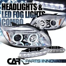 05-10 Scion tC Chrome Twin Halo Projector Headlights+6-LED Fog Lamps