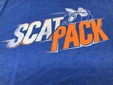 New Men's Dodge Scat Pack T-Shirt Short Sleeve Blue 2XL