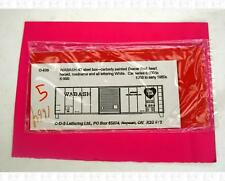 CDS O Dry Transfer Decals Wabash Railroad 40 Ft Boxcar White O-639