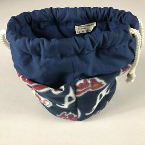 Atlanta Braves Fleece Bag Womens Baseball Bingo Baby Diaper Rope Handles Purse
