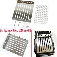 Stainless Steel Trunk Plate for Traxxas Benz TRX-6 G63 RC Model Car Upgrade Part
