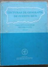 Lecturas de Geografia de Puerto Rico para estudiantes de septimo grado 1981