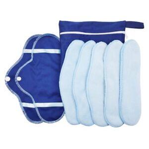 8Stk waschbare wiederverwendbare Damenbinden Slipeinlagen Sinnvoll Ti