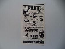 advertising Pubblicità 1955 FLIT AEROSOL ESSO
