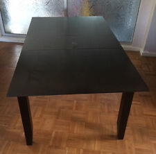 John Lewis Black/Brown Extendable Dining Table