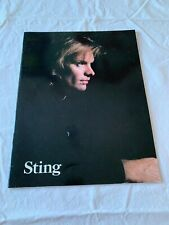 Sting Nothing Like The Sun World Tour Programme 1987/88