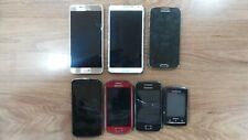 Trabajo Lote De 7 teléfonos móviles Mezclados defectuoso Samsung LG NOKIA SONY.. defectuoso.