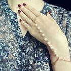Women Vintage Bracelet Bangle Slave Chain Finger Ring Harness Hand Pearl Chain