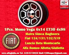 1 Cerchio Momo Vega FIAT Alfa pcd 4x98 124 125 131 132 Alfetta GTV Giulietta mk2