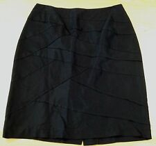 VERONIKA MAINE BNWT Black CrissCross Pattern Lined Work Straight Skirt Size 10