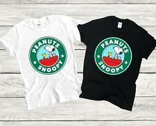 Peanuts Snoopy Chick tendencia Hombre Mujer Unisex de café Linda Camiseta Chaleco Top 3772