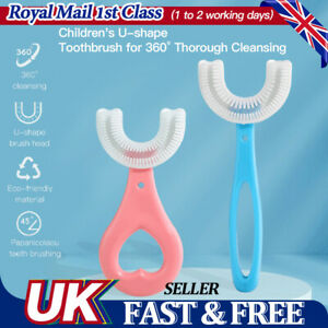 UK Children's U-shape Toothbrush Silicone Toothbrush For 360° Thorough Cleaning