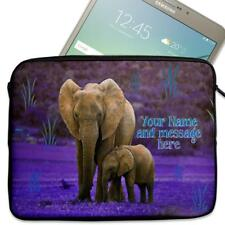 "Personalised Tablet Case ELEPHANT Neoprene Sleeve Cover 7"" 8"" 9"" 10"" SH079"