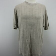 Axis LA Mens New with Tags Short Sleeve Sweater Tan Cotton Blend Large