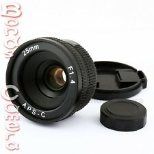 New 25mm C mount CCTV Lens for wide APS-C sensor camera M4/3 NEX FX EOSM N1 P/Q