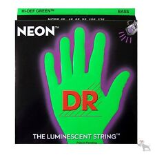 DR NGB5-45 HiDef Neon Green Coated Medium 5-String Electric Bass Strings 45-125