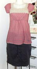 Vive Maria Kleid Summer Mosaik Shirt S 36 Berry Cotton Red Rot Blumen Muster