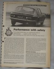 1968 Jensen FF Original Motor magazine Road test