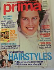 Prima Magazine October 1992. Teddy Sweater. New Ruffle Blouse. X-Stitch Pictures