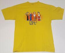 Lit Cartoon Rock Band Members Yellow Cartoon T Shirt Mens M