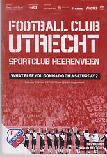 Programma / Programme FC Utrecht V SC Heerenveen 14-10-2017