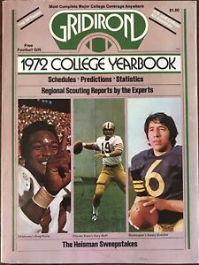 1972 GRIDIRON College Yearbook Magazine..GREG PRUITT Cover..Mint