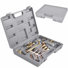 10Pcs Gas Welding Cutting Torch Kit Set Oxy Acetylene Oxygen Brazing w/ Case