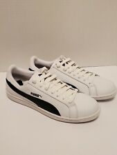NEW PUMA Smash v2 Men's Sneakers Shoe Basics BLACK WHITE LOGO SIZE 10.5 NIB