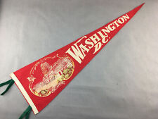 "Vintage 26"" Felt Pennant Washington DC"