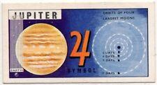 Jupiter Planet Solar System Space Telescope Vintage Trade Ad Card