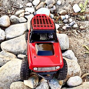 Axial SCX24 Micro RC Crawler DeadBolt BLACK Roof and RED Rack Combo