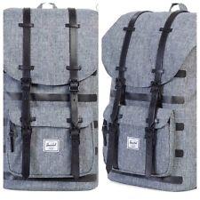 NWT HERSCHEL Little America Raven Canvas Leather Trim 25 L Backpack