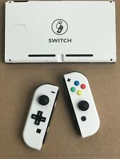 Nintendo Switch Custom Joy Con Controller Joy-Cons White D-PAD + BACKPLATE