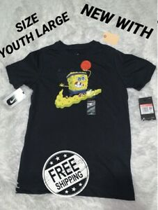 Nike Kryie x Spongebob T-Shirt Kid's Youth Large(CQ3859-010) 🔥 🧽