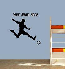 Personalised Football Striker Décor Wall Art Sticker Vinyl Decal Transfer Kids