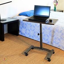 Mobile Computer Table Laptop Cart Desk Couch Portable Small Rolling  Adjustable
